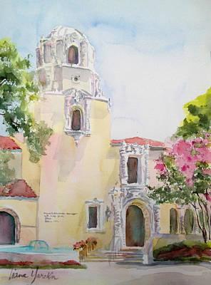 Painting - Highland Park Town Hall by Liana Yarckin