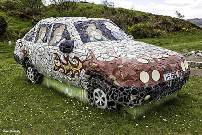 Photograph - Highland Stoneware Car by Fran Gallogly