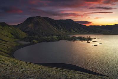 Iceland Wall Art - Photograph - Highland Sunset by Tor-Ivar Naess