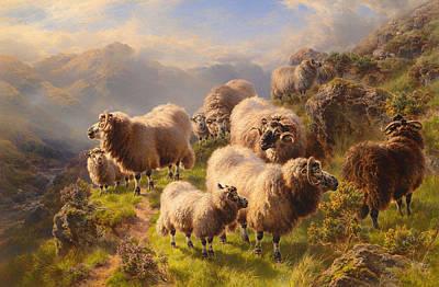 Highland Wanderers  Art Print