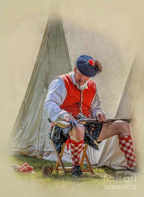 Book Illustrations Digital Art - Highlander Camp Life by Randy Steele