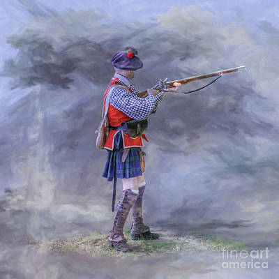Digital Art - Highlander In The Mist by Randy Steele