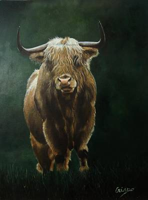 Painting - Highlander by Jean Yves Crispo