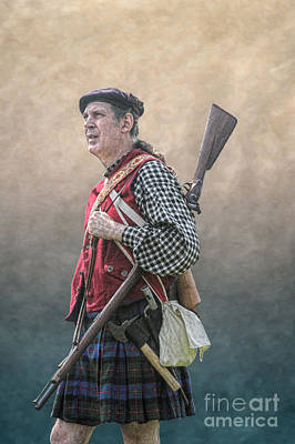 Historical Digital Art - Highlander Soldier Portrait  by Randy Steele