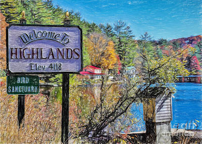 Beautiful Vistas Drawing - Highlands North Carolina by Janice Rae Pariza