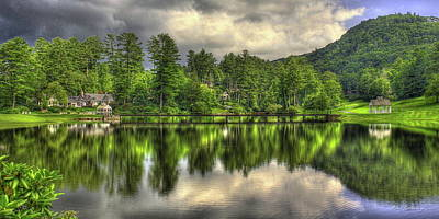 Photograph - Highlands Reflections Highlands Country Club Highlands North Carolina Art by Reid Callaway