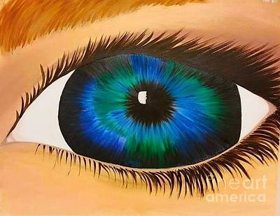 Eye Painting - Highlight Of Eye On The Planet by Roxane Gabriel