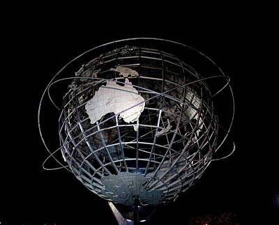 1963 Worlds Fair Photograph - Highlighting Australia On The Unisphere by Karen Silvestri