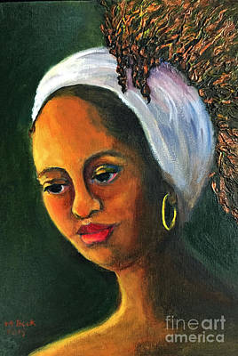 Painting - Highlights In Yellow-women Of Color Series by Marlene Book