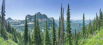 Photograph - Highline Trail Panoramic - Glacier National Park by Jason Kolenda