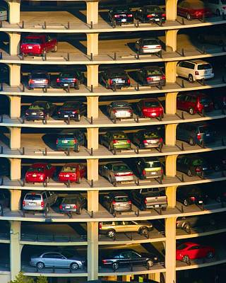 Highrise Carpark Art Print