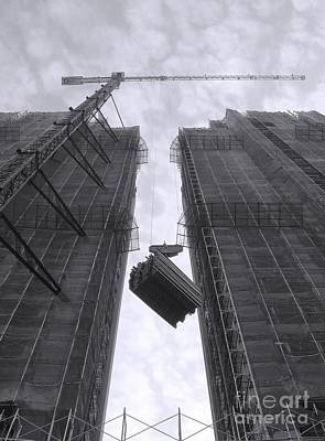 Photograph - Highrise Construction Site by Yali Shi