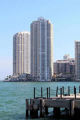 Photograph - Highrises On Bicknell Key by Art Block Collections
