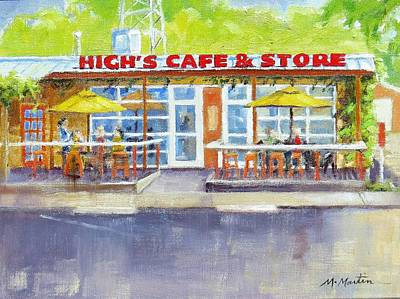 Mike Martin Painting - High's Cafe And Store by Mike Martin