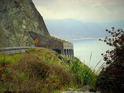 Photograph - Highway 1 At Lucia South Of Big Sur Ca by Joyce Dickens