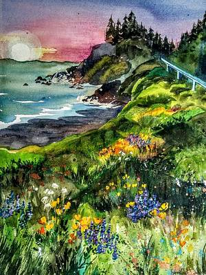 Painting - Highway  101 North by Esther Woods