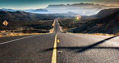 Photograph - Highway 170 To Big Bend by Allen Biedrzycki