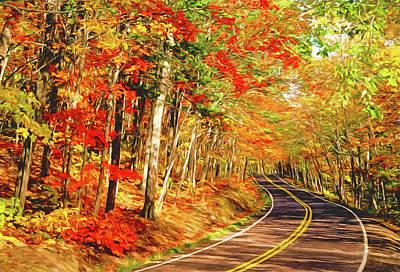 Digital Art - Highway 41 Autumn by Dennis Cox Photo Explorer