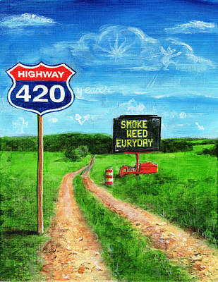 Painting - Highway 420 by Charles Bickel