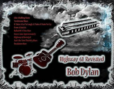 Highway 61 Revisited Digital Art - Highway 61 Revisited by Michael Damiani