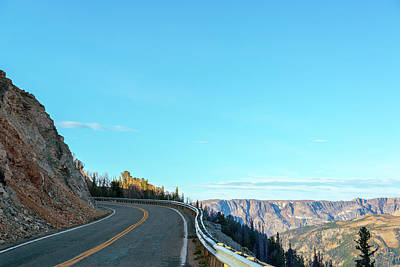 Beartooth Mountain Range Photograph - Highway And Mountains by Jess Kraft