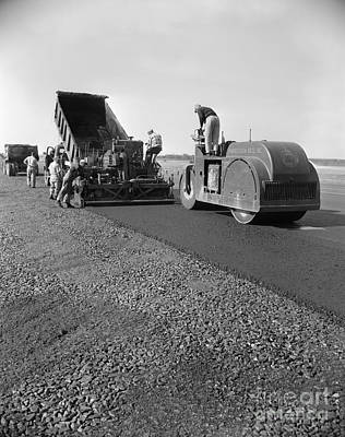 Highway Construction, C.1950-60s Art Print by H. Armstrong Roberts/ClassicStock