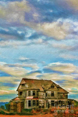 Photograph - Highway One Old Abandoned House by Blake Richards