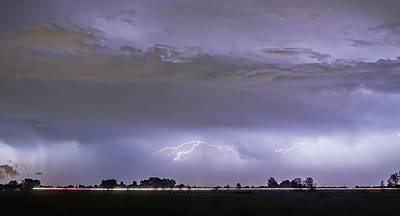 Night Photograph - Highway Storm by James BO  Insogna