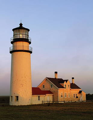 Art Print featuring the photograph Higland Lighthouse Cape Cod by Roupen  Baker