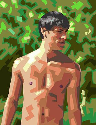 Nude Portraits Digital Art - Hijo De Mexico by Douglas Simonson