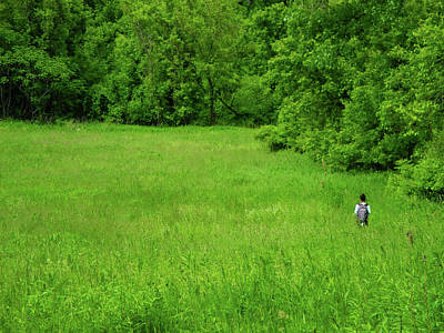 Photograph - Hiker Among Green by Raymond Salani III