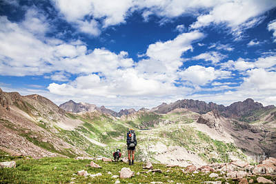 Photograph - Hiker And Dog by Olivier Steiner