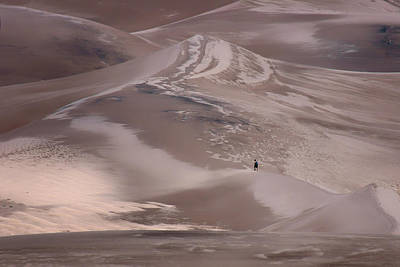 Photograph - Hiker - Great Sand Dunes - Colorado by Nikolyn McDonald