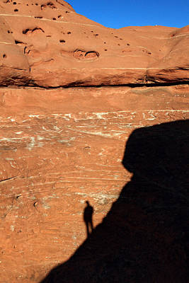 Silhouette Photograph - hiker in Canyonlands NP by Pierre Leclerc Photography
