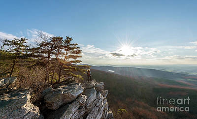 Photograph - Hiker Standng At The Summit Of An Appalachian Mountain At Edge O by Patrick Wolf