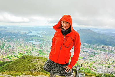 Photograph - Hiker Woman In Norway by Benny Marty