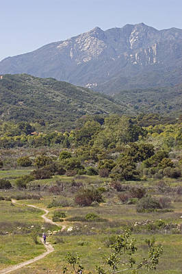 Ojai Wall Art - Photograph - Hikers On The Multi-use Trail System by Rich Reid