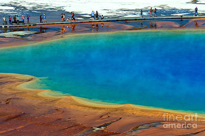 Photograph - Hiking Along Grand Prismatic by Adam Jewell