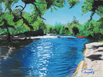 Painting - Hiking Along The Little Big Econ by Dana Schmidt