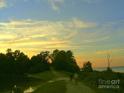Photograph - Hiking At Sunset by Nancy Kane Chapman