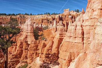 Photograph - Hiking Deep Into Bryce Canyon by John M Bailey