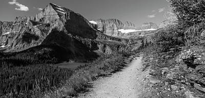 Photograph - Hiking Grinnell Glacier Black And White  by John McGraw