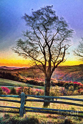 Painting - Hiking In Autumn Ap by Dan Carmichael