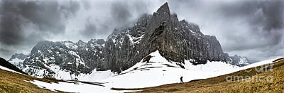 Photograph - Hiking In The Alps by John Wadleigh