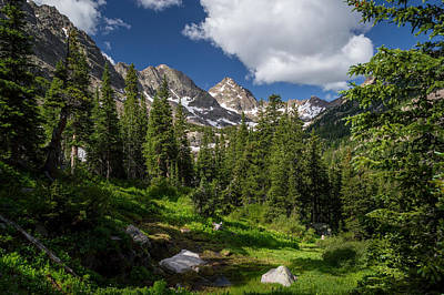 Photograph - Hiking Into The Gore Range Mountains by Michael J Bauer