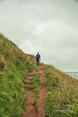 Photograph - Hiking The Pembrokeshire Coast by Patricia Hofmeester
