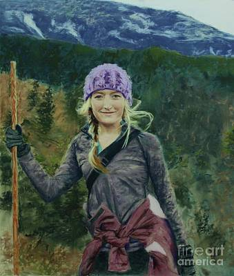 Painting - Hiking The White Mountains by Janet Poirier