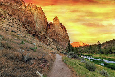 Hiking Photograph - Hiking Trail At Smith Rock State Park by David Gn