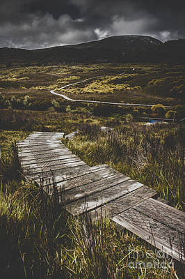 Hiking Trail Leading To Distant Australia Bushland Print by Jorgo Photography - Wall Art Gallery