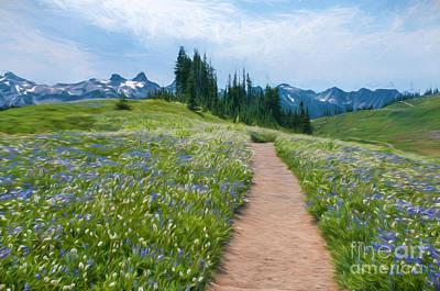 Landscapes Kadek Susanto - Hiking Trails and Wildflowers by Sharon Seaward